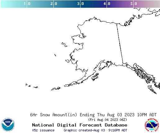 Alaska 12 hourly forecast snow accumulations
