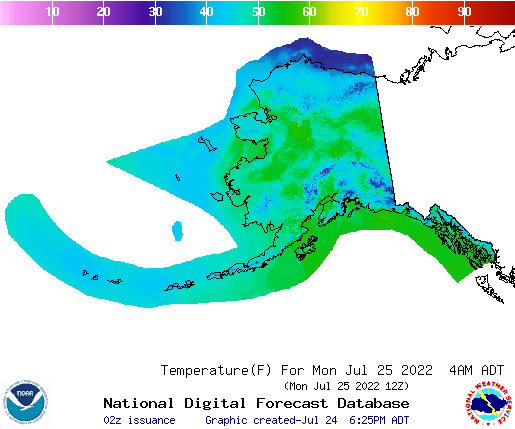 Here Is The Real Time Noaa Us Weather Map For Temperature Map For Hawaii