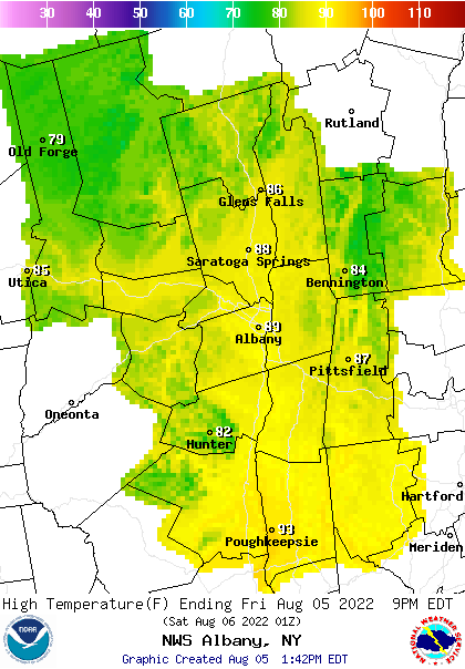 Albany Weather Map.Noaa Graphical Forecast For Albany Ny
