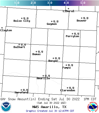 Image of +6 Hours Snowfall Forecast  - Click to enlarge