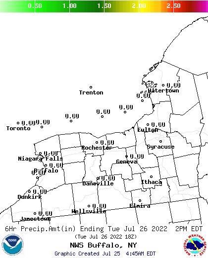 BUF 36 Hour Snowfall Forecast Report