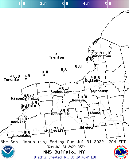 BUF 12 Hour Snowfall Forecast Report