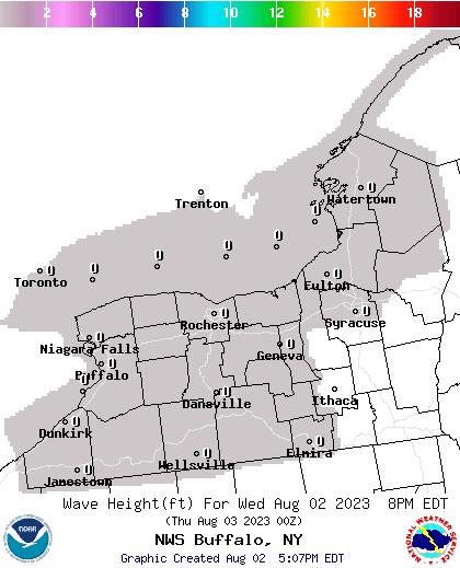 NOAA Graphical Forecast For Buffalo NY - Nws buffalo radar