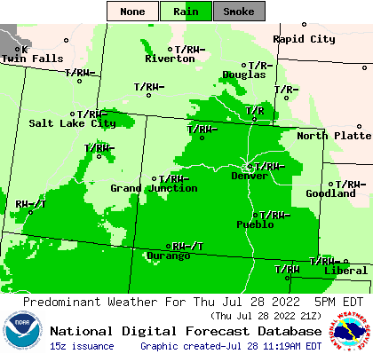 Rocky Mtn Forecast from Weather.gov
