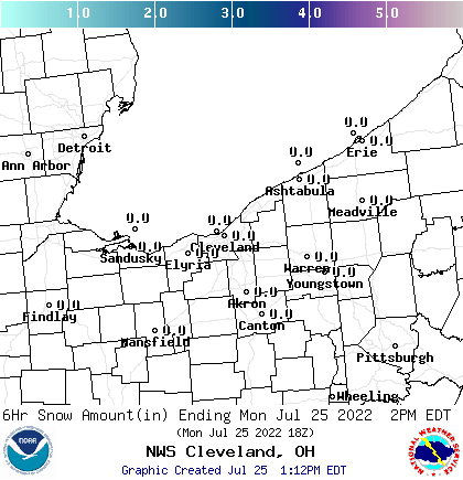 click for snow amount graphic 0-6 hour forecast