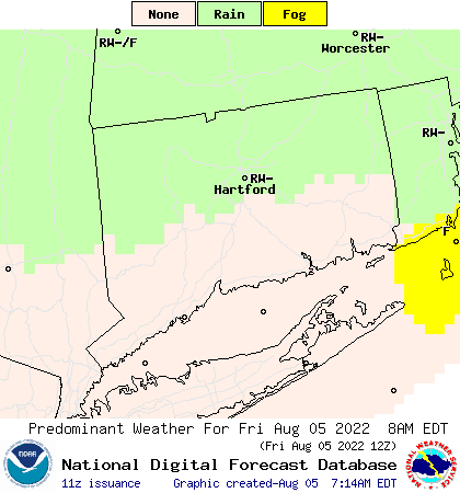 Weather Street: 7-Day Connecticut Weather Type Forecast