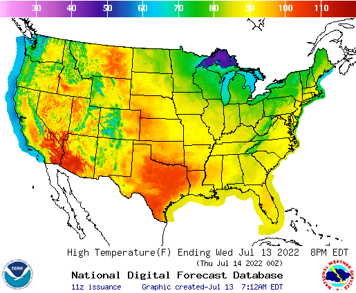 National Forecast Maps on