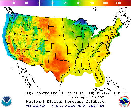 Weather Usa Map National Forecast Maps
