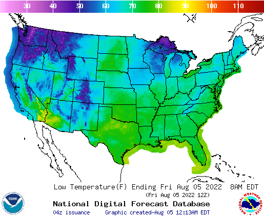 NWS Low Temperature