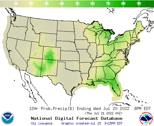 United States 108 to 120 Hour Precipitation Probability