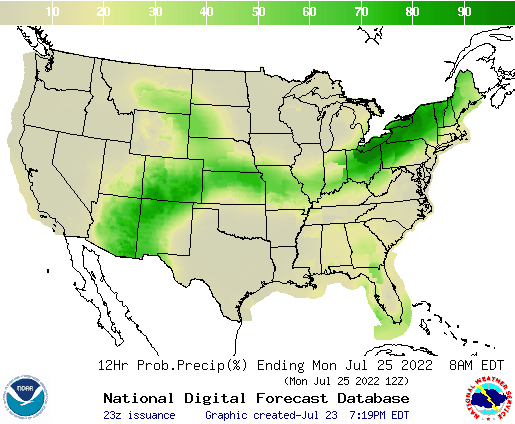United States 24 to 36 Hour Precipitation Probability