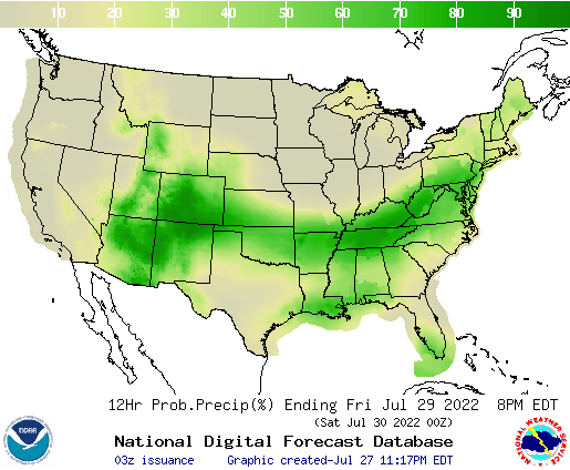 United States 36 to 48 Hour Precipitation Probability