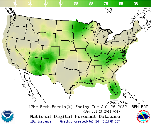 United States 48 to 60 Hour Precipitation Probability