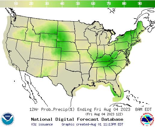 United States 48 to 60 Hour Precipitation Probability