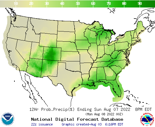 United States 96 to 108 Hour Precipitation Probability