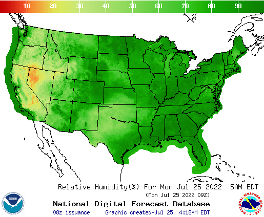 NWS - Relative Humidity