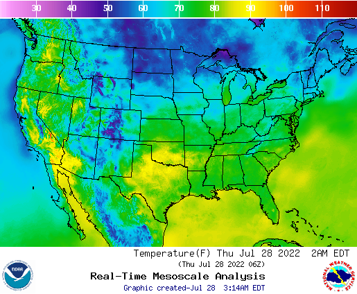 NWS National Graphical Forecast Elements