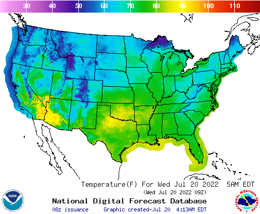 National Temperature Map