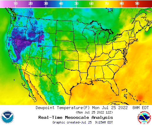 Weather Street Us Dewpoint Temperature Forecast - Us-map-weather-forecast