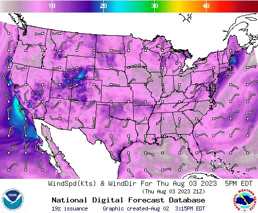 NDFD Wind -- 11 hr