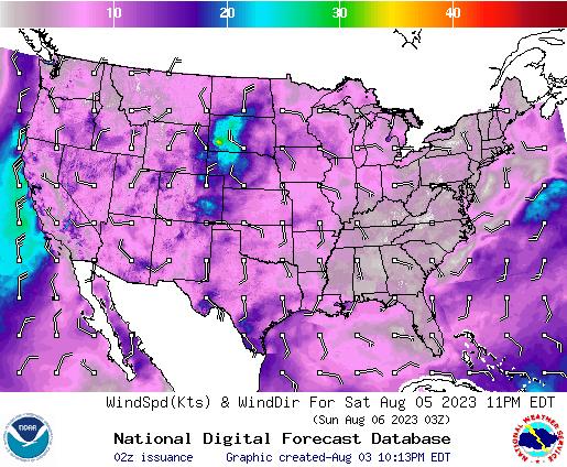 NDFD Wind -- 17 hr