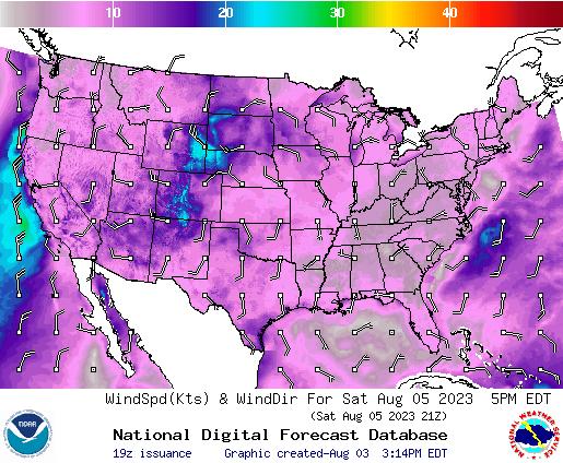 NDFD Wind -- 19 hr