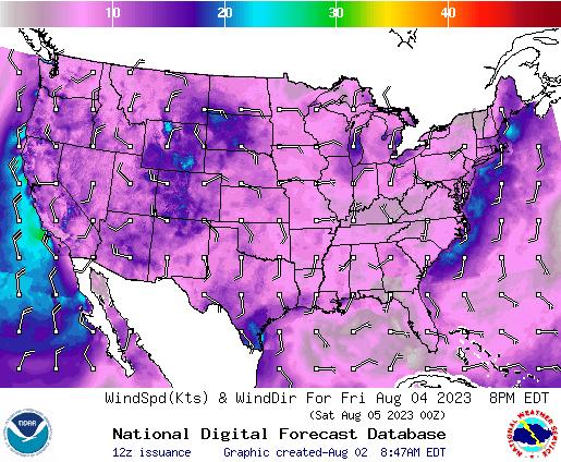 NDFD Wind -- 20 hr