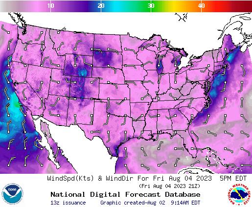 NDFD Wind -- 23 hr