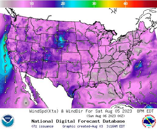 NDFD Wind -- 24 hr