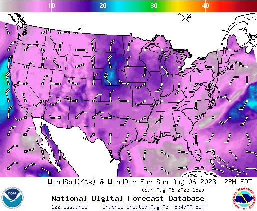 NDFD Wind -- 26 hr