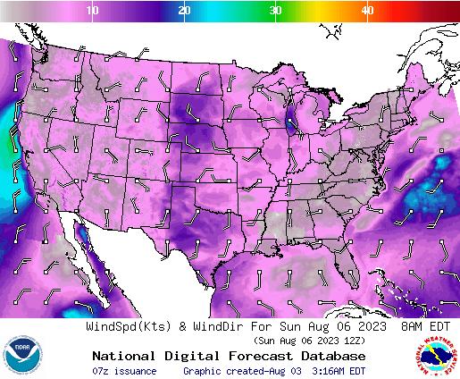 NDFD Wind -- 28 hr