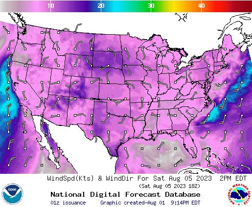 NDFD Wind -- 30 hr
