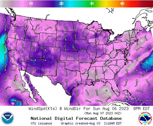 NDFD Wind -- 32 hr