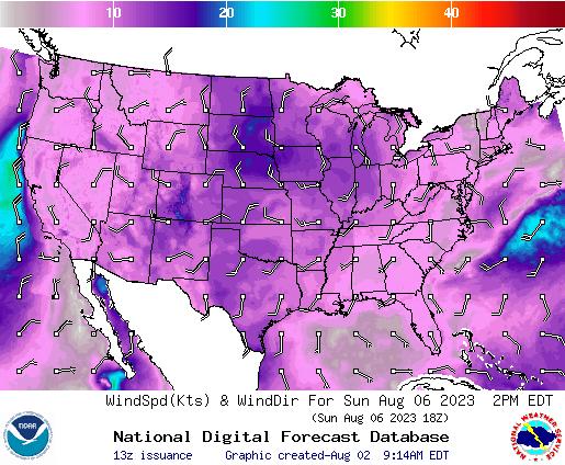 NDFD Wind -- 34 hr