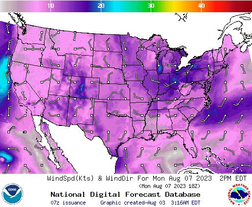 NDFD Wind -- 38 hr