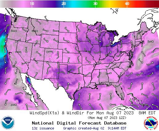 NDFD Wind -- 40 hr
