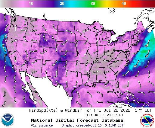 NDFD Wind -- 46 hr