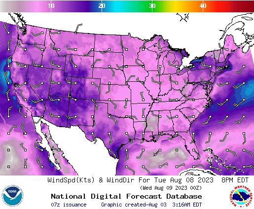 NDFD Wind -- 48 hr