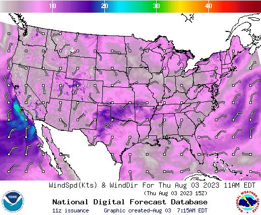 NDFD Wind -- 5 hr