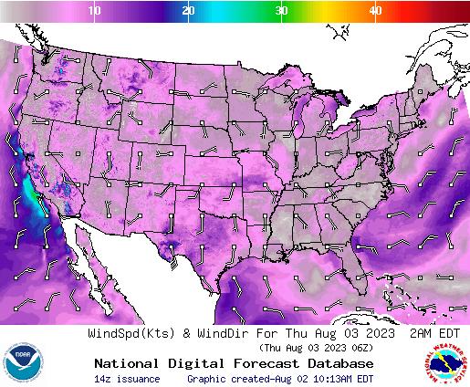 NDFD Wind -- 6 hr
