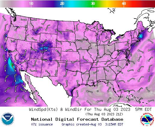 NDFD Wind -- 7 hr