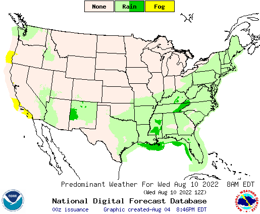 Us Weather Map Forecast Day - 5 day us weather map