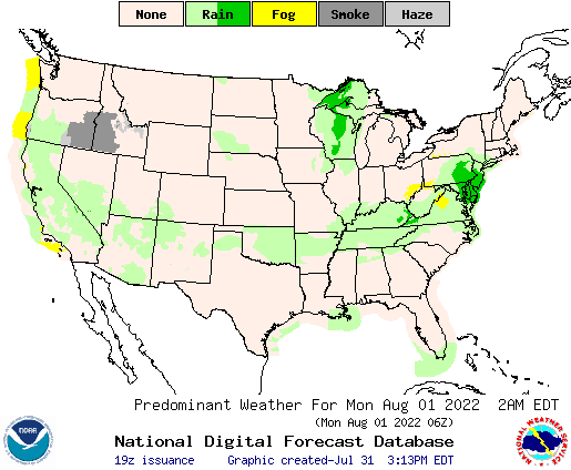 United States Day Weather Map Usgs Winter Floods El - Us weather map 7 day forecast