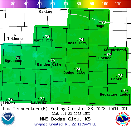 Noaa Graphical Forecast For Dodge City Ks