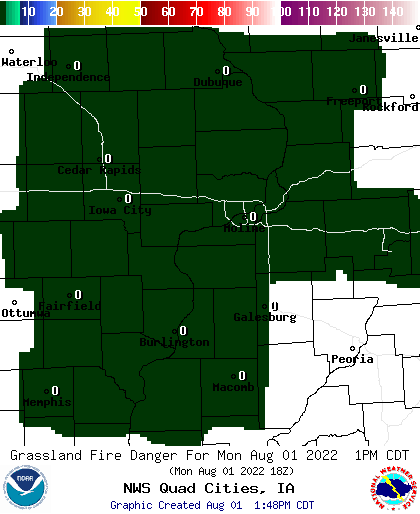 Grassland Fire Danger Index Graphic