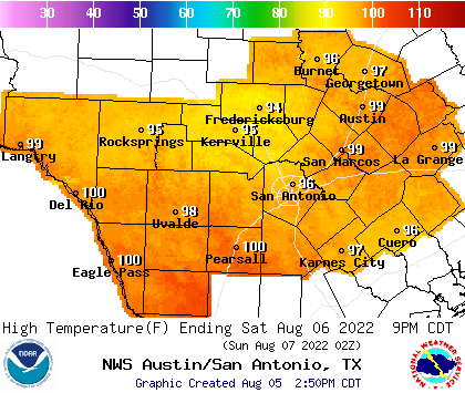 Regional High Temperature Forecast