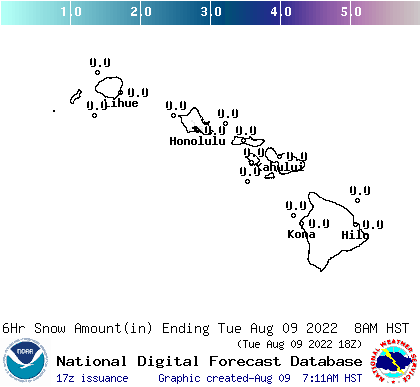 Hawaii 12 hourly forecast snow accumulations