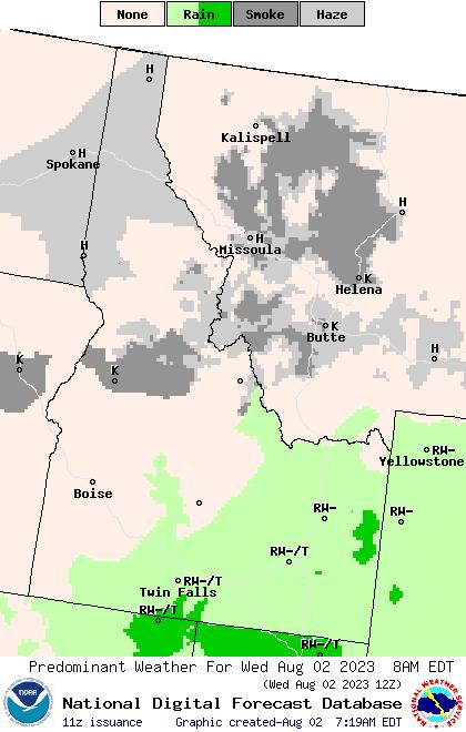 Weather Street: 7-Day Idaho Weather Type Forecast