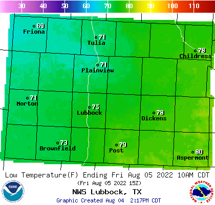 Regional Low Temperature Forecast