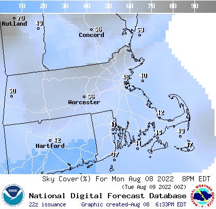 Weather Street 7 Day Massachusetts Cloud Cover Forecast